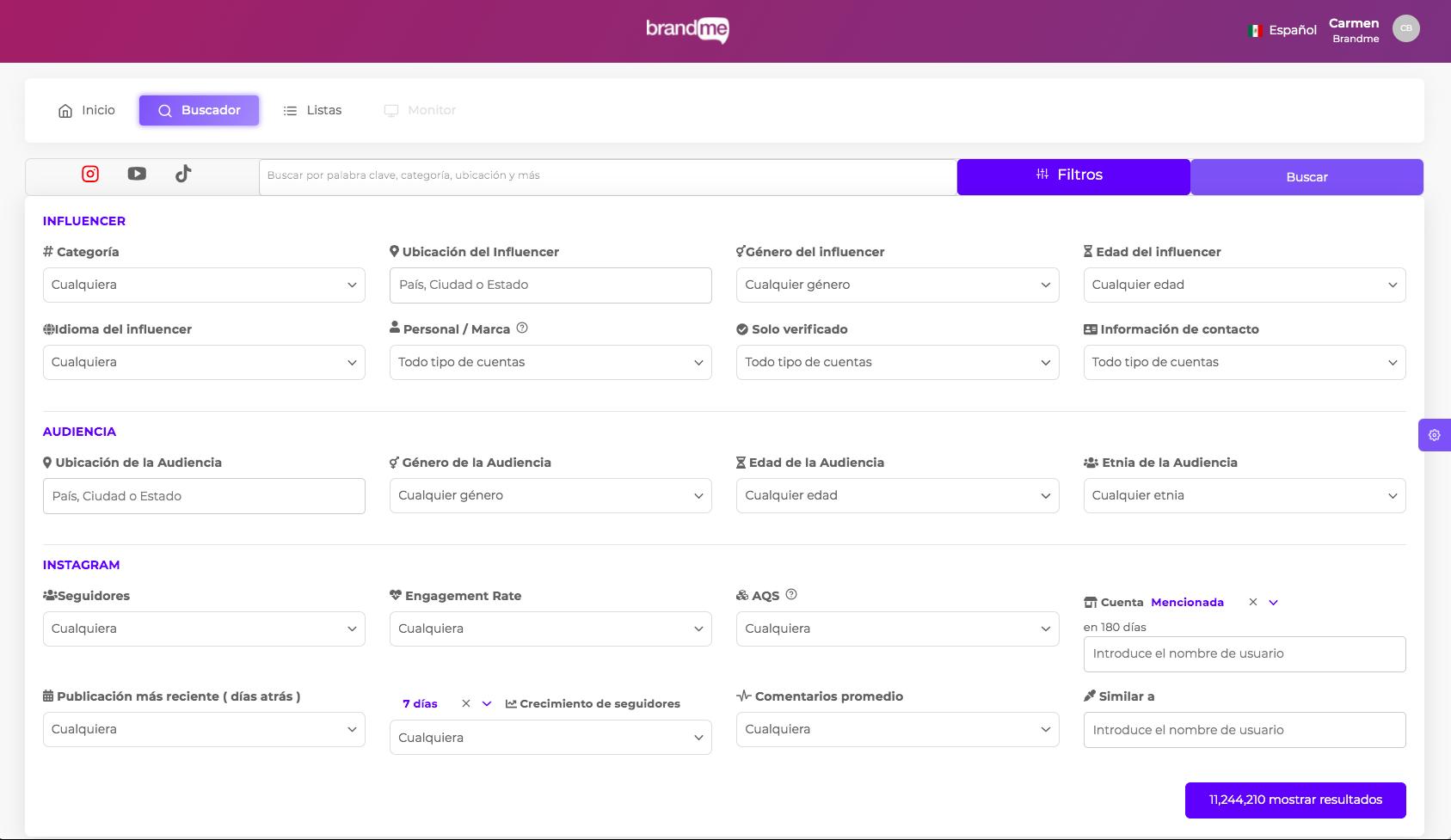 Cómo-elegir-influencers-analizador-de-BrandMe-métricas-buscador